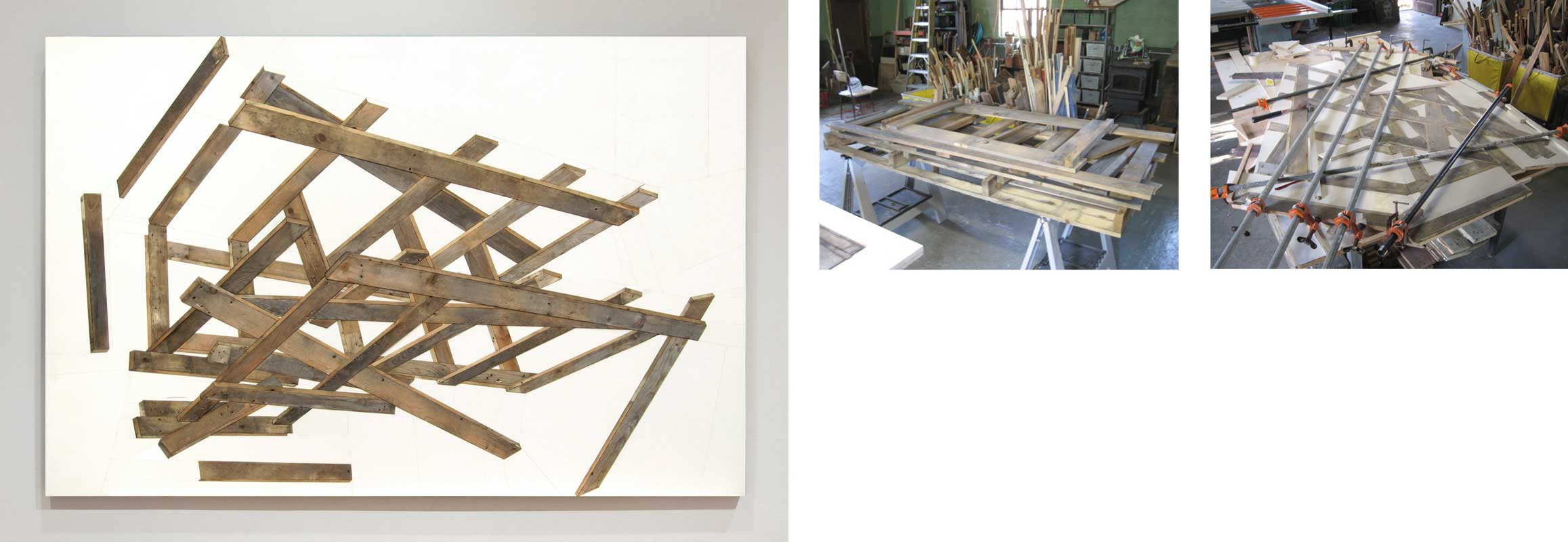 assemblage with found crate