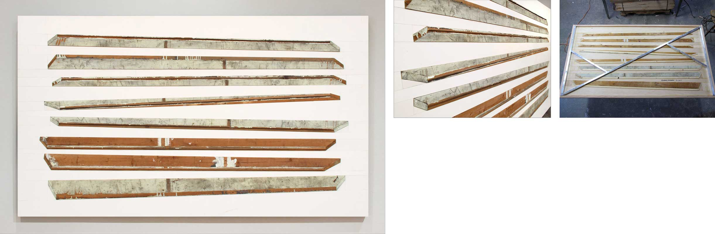 assemblage with found boards